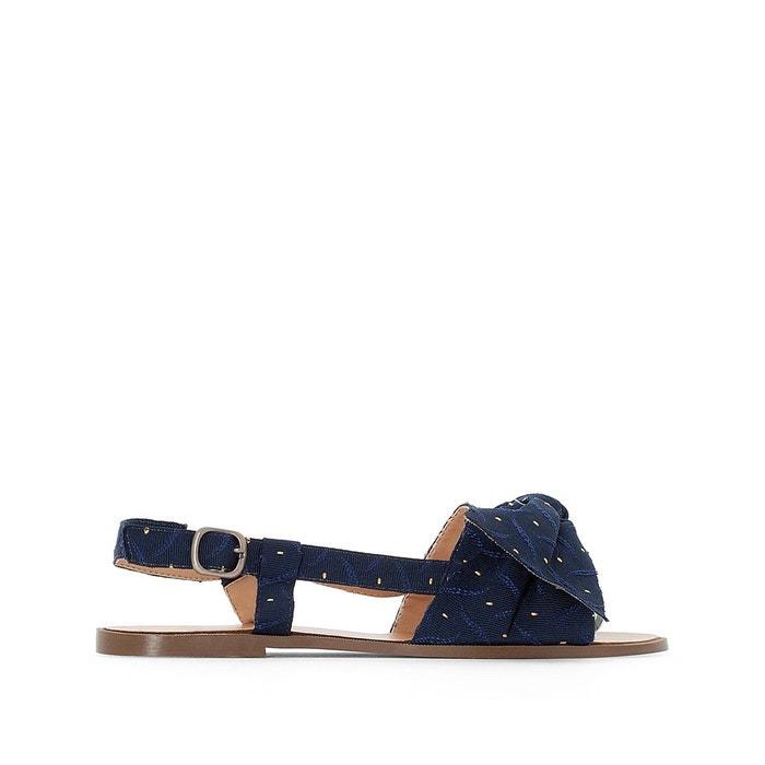 Sandales textile nouées bleu marine La Redoute Collections   La Redoute 516a9d59aa14