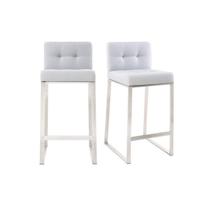 tabouret de bar design m tal tissu 66 cm lot de 2 haley miliboo la redoute. Black Bedroom Furniture Sets. Home Design Ideas