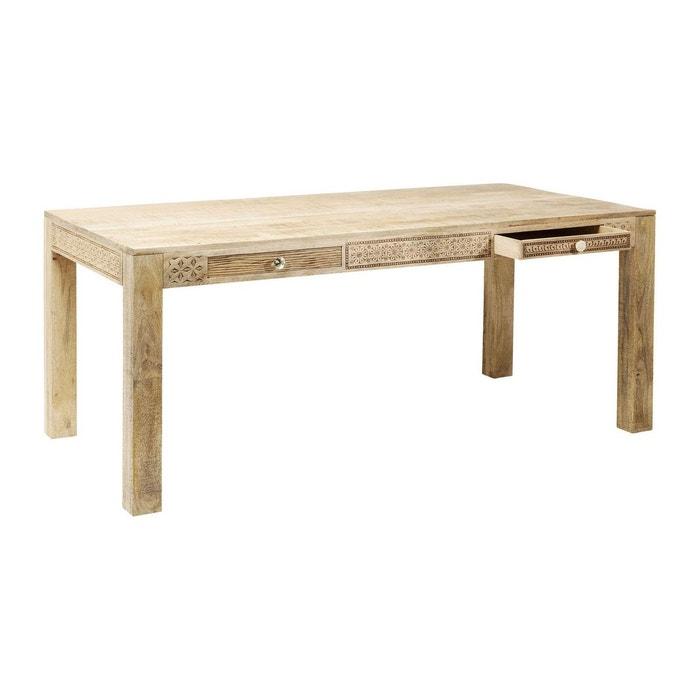 Table puro plain 160x80 cm kare design marron kare design for Table a manger la redoute