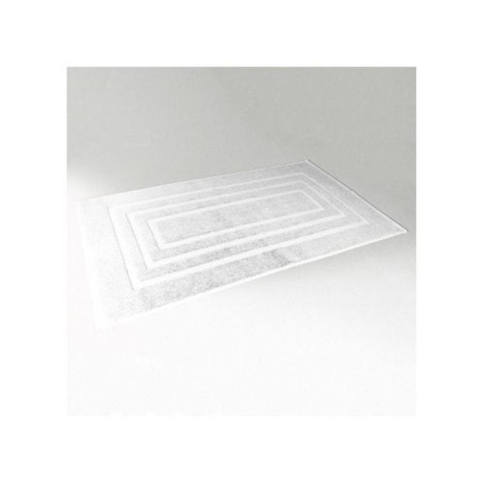 Tapis de bain 50x85 cm uni en eponge blanc home bain la redoute - Tapis de bain la redoute ...