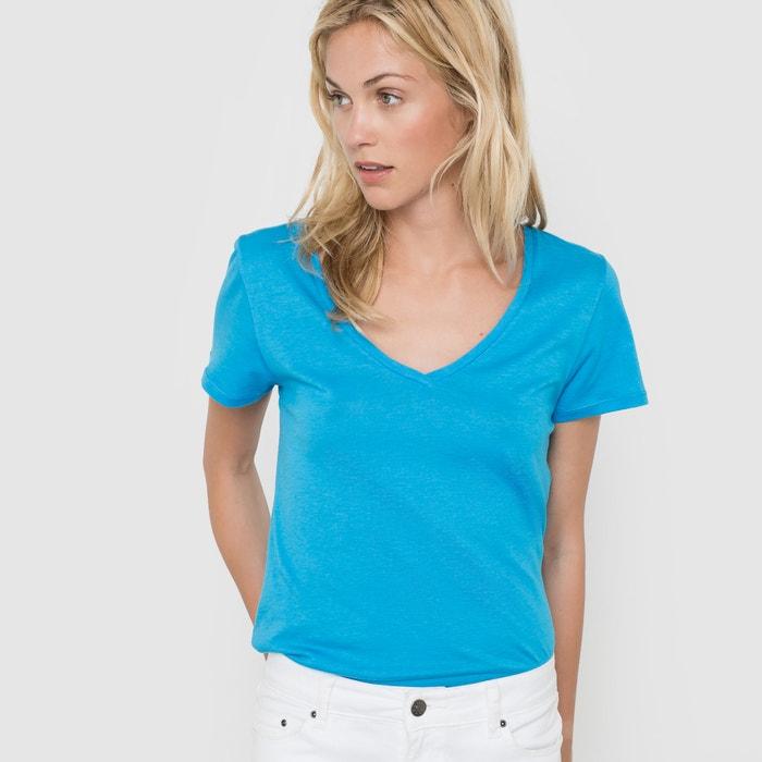 T-shirt de mangas curtas, algodão/modal R essentiel