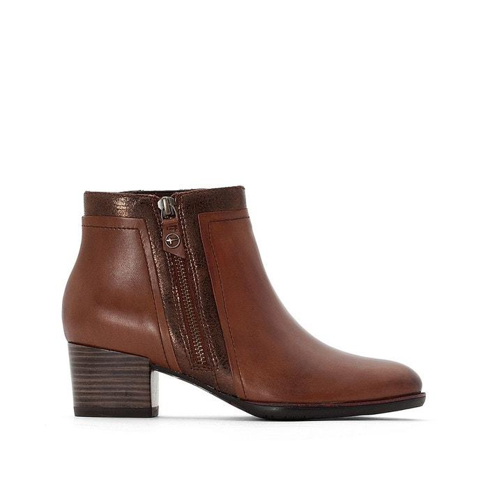 La Marron Cuir Tamaris Redoute Akaria Boots wI1q86Y8