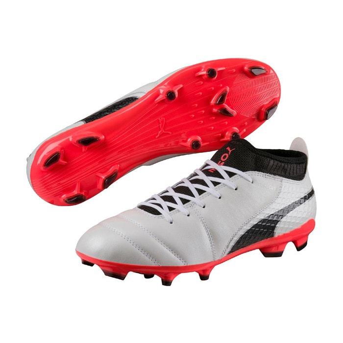 Chaussure de foot one 17.2 fg pour homme  white-blackcoral Puma  La Redoute