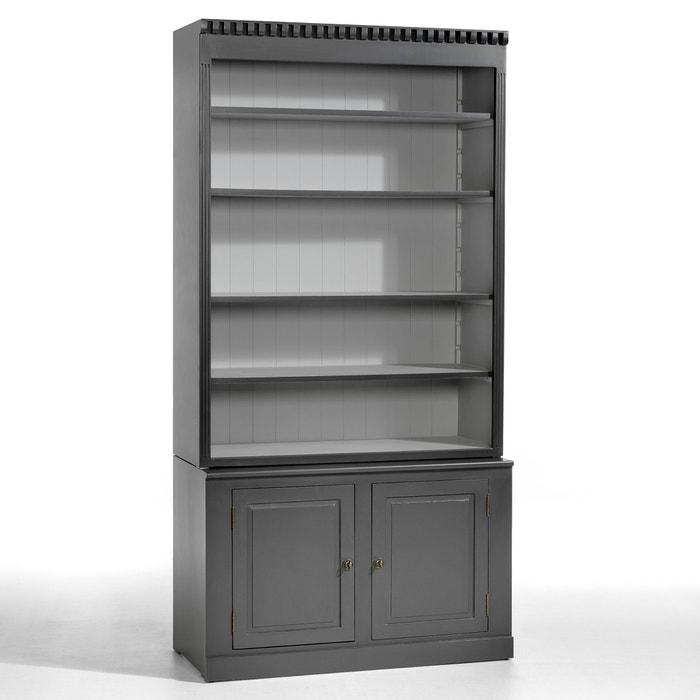 aria poplar bookcase charcoal grey am pm la redoute. Black Bedroom Furniture Sets. Home Design Ideas