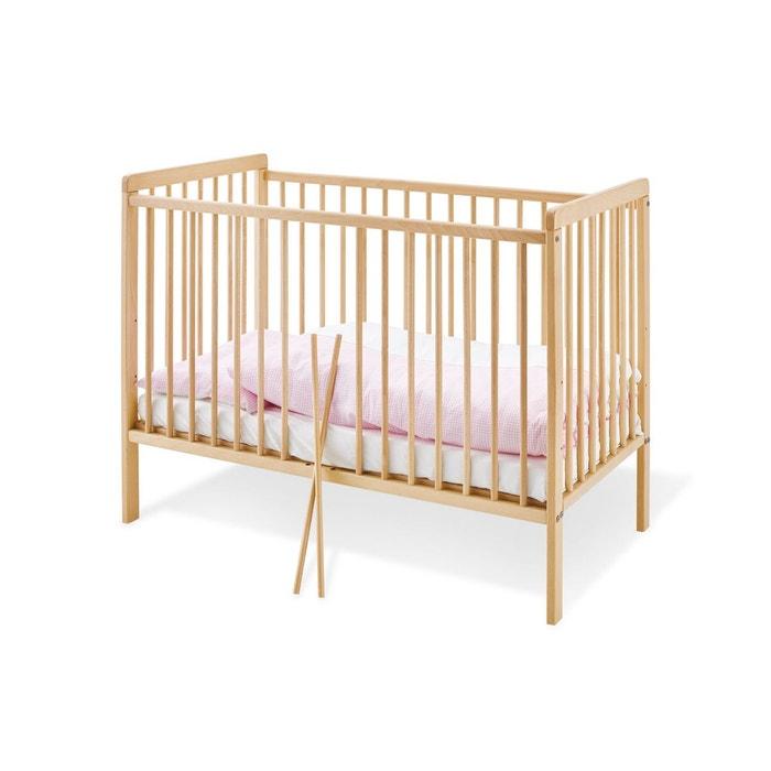 Lit b b hanna naturel 60 x 120 pinolino couleur unique pinolino la redoute - La redoute lit bebe ...