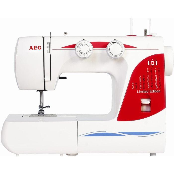 aeg machines coudre lectroniques 26 fonctions 124 x blanc et rouge aeg la redoute. Black Bedroom Furniture Sets. Home Design Ideas