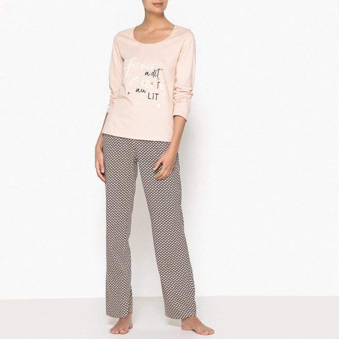 Pyjama aus Baumwolle, bedruckt  La Redoute Collections image 0