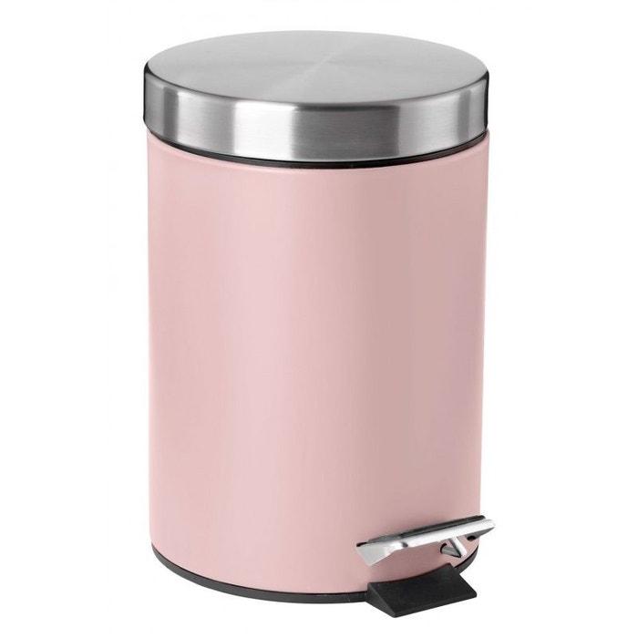 poubelle de salle de bain rose soft touch et acier inoxydable 18 8 3l rose wadiga la redoute. Black Bedroom Furniture Sets. Home Design Ideas