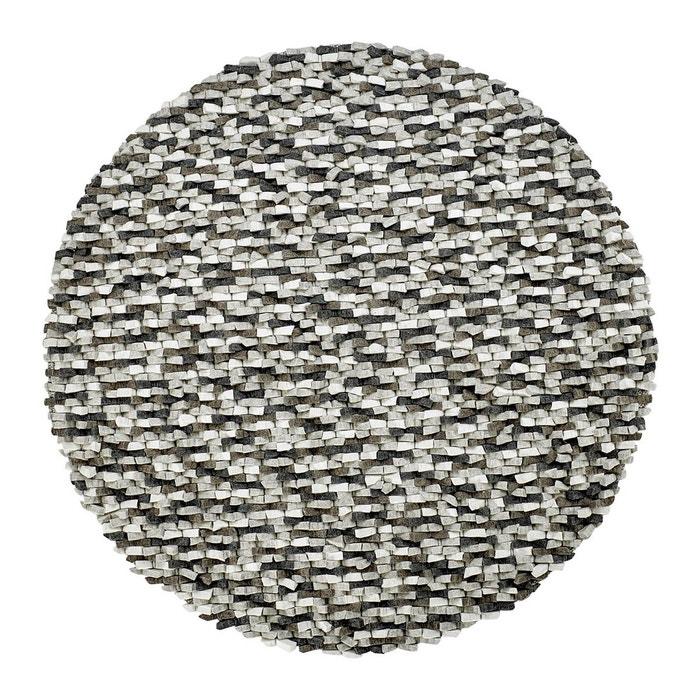 tapis rond naturel en laine feutr e pais pour salon gris missi gris deladeco la redoute. Black Bedroom Furniture Sets. Home Design Ideas