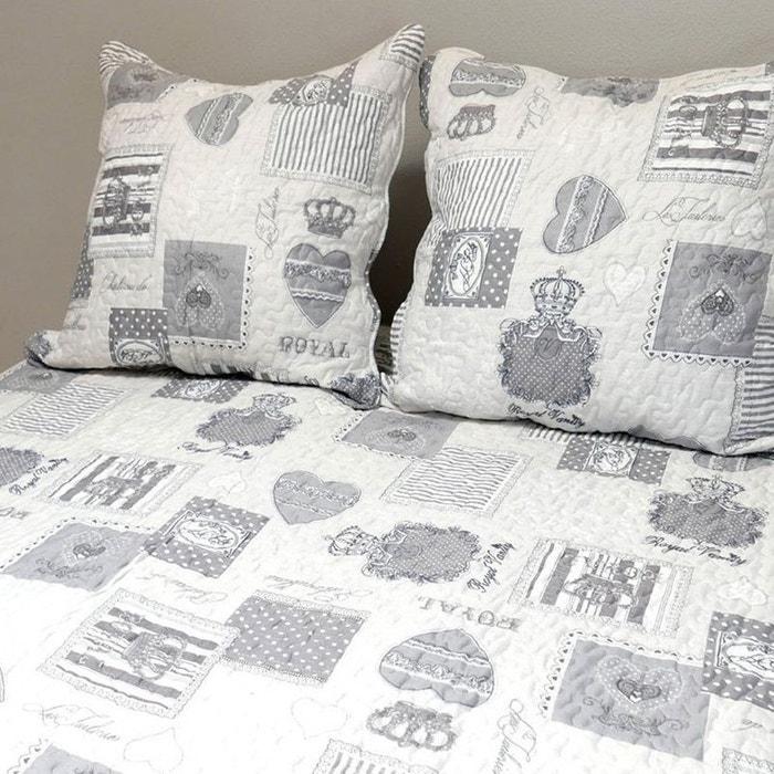 couvre lit nadia Set couvre lit boutis et 2 taies   nadia 220 x 240 cm couleur  couvre lit nadia