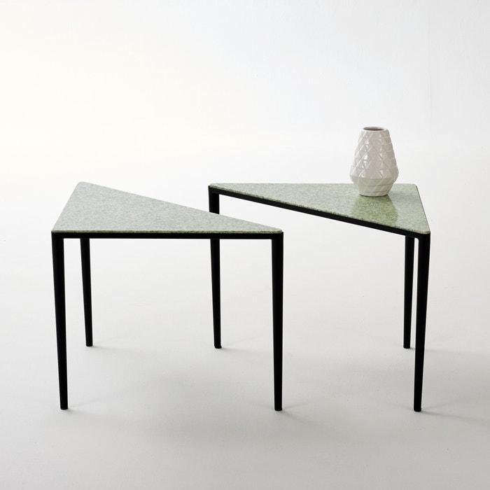 Image Bout de canapé métal et terrazzo Razzi (lot de 2) La Redoute Interieurs