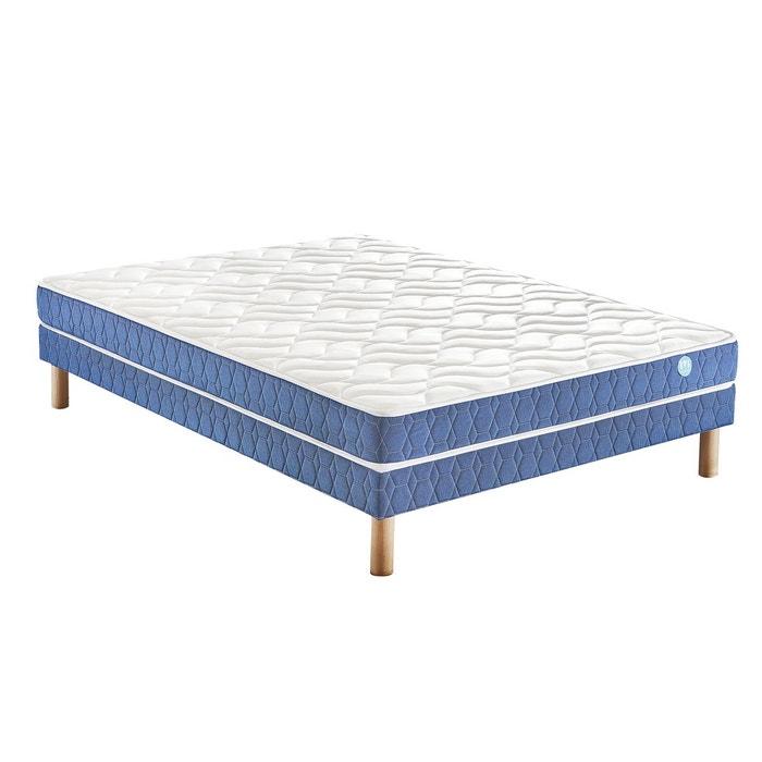 ensemble matelas mousse hd confort ferme ony et so blanc bleu merinos la redoute. Black Bedroom Furniture Sets. Home Design Ideas