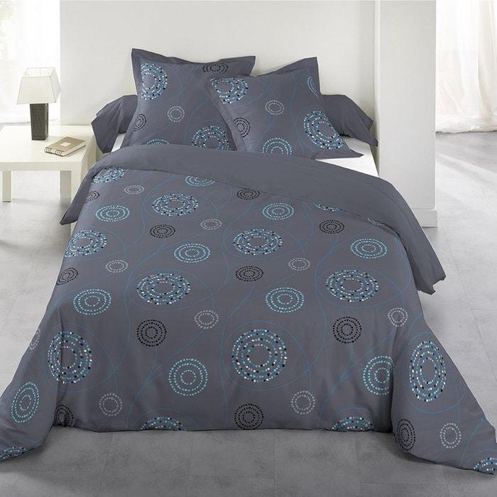 Parure de lit spirales bleu bleu gris garnier thiebaut la redoute - La redoute parure de lit ...