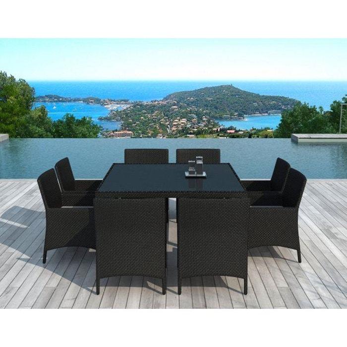 Sd8216 - table et chaises de jardin noir Delorm | La Redoute