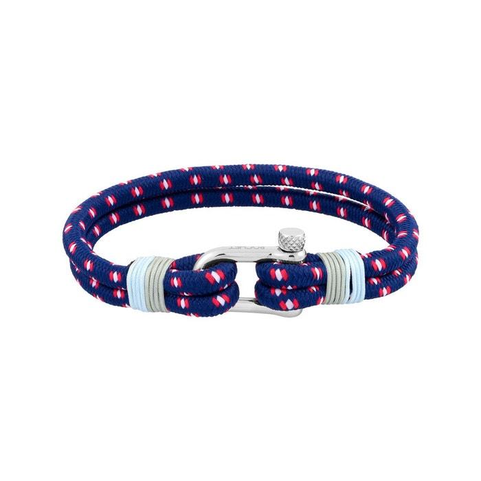 Bracelet en corde bleue et acier argente Rochet | La Redoute Livraison Gratuite Pas Cher uwmKOb9Db