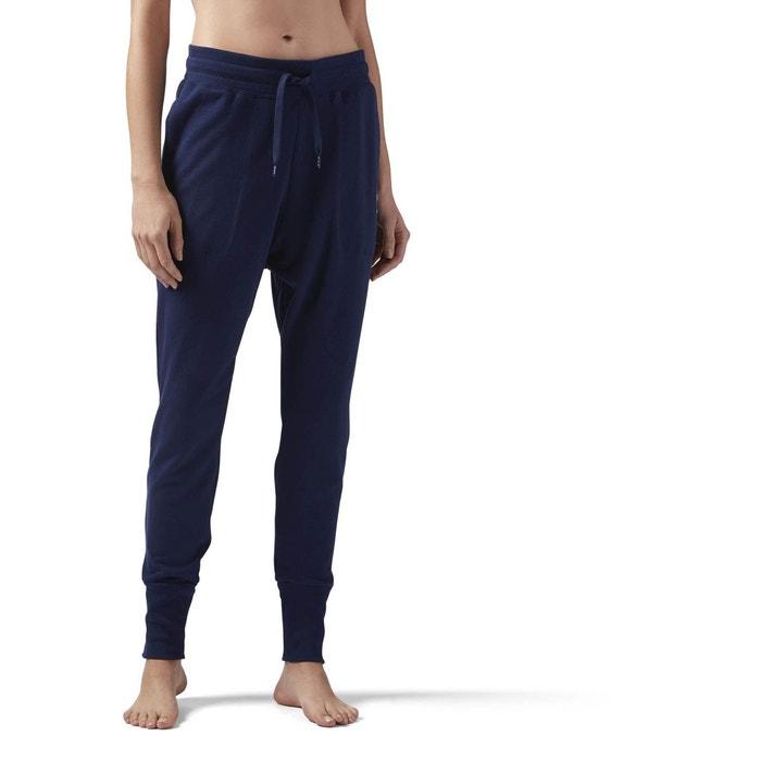 Pantalon de survêtement en coton à taille haute bleu Reebok Classics ... 734c4d222b6