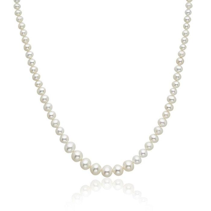 Prix Le Moins Cher En Ligne Nouveau Collier or 375/1000 perle de culture blanc Cleor | La Redoute Acheter Pas Cher En Ligne nNF63JO7