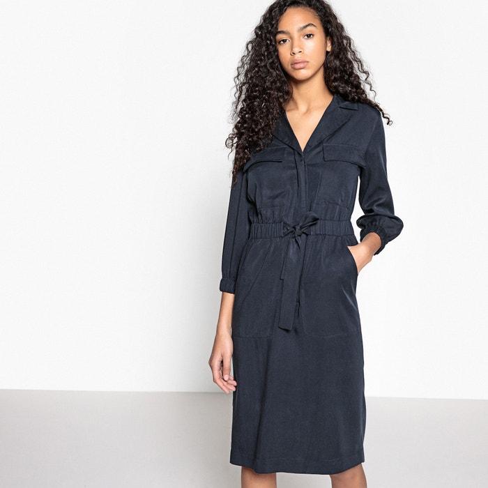 Elasticated Tie Waist Midi Shirt Dress  La Redoute Collections image 0