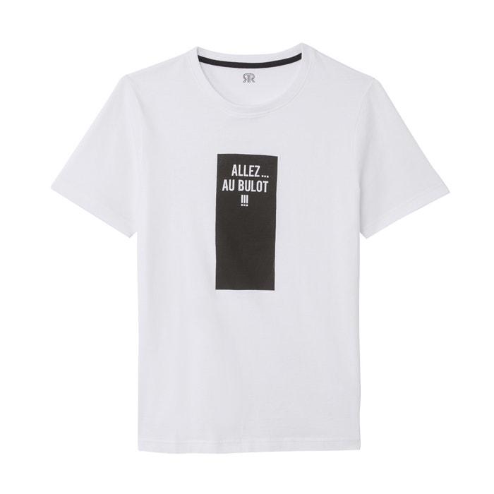 7fd272eddde French slogan cotton t-shirt , white, La Redoute Collections | La Redoute