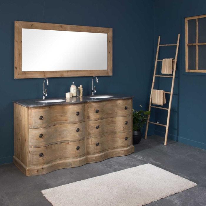 Meuble de salle de bain 2 vasques 4 tiroirs authentiq | lop06x2 - en ...