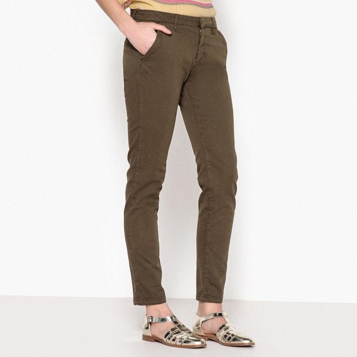 Pantalon chino sandy 2 basic kaki Reiko   La Redoute 8e6824e20c1e