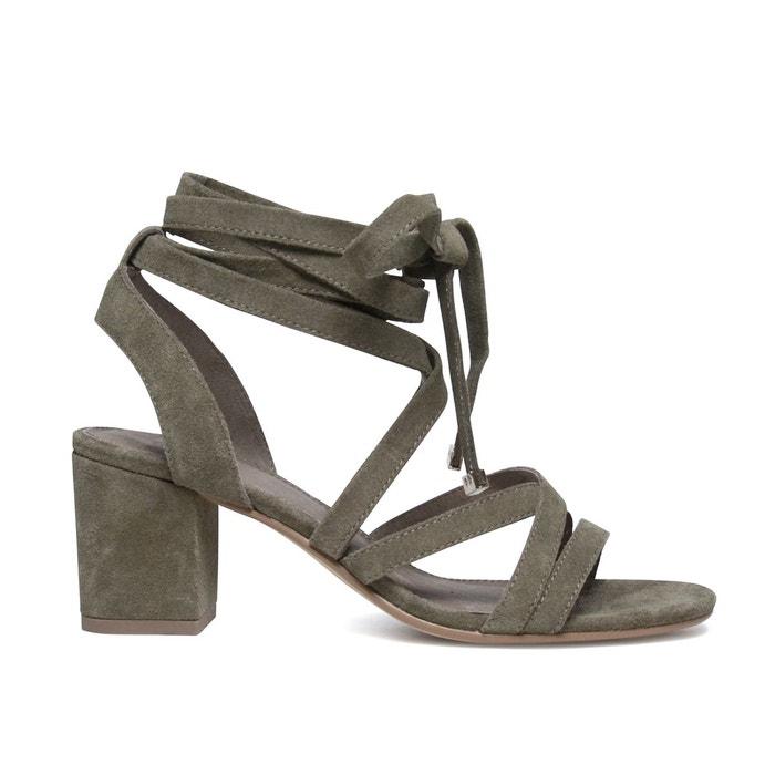 Sandales à talon en daim Sacha