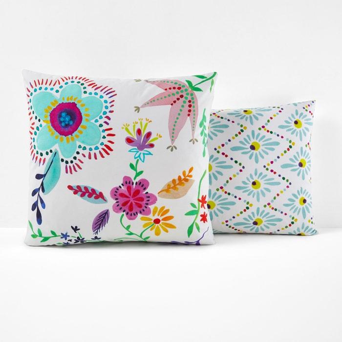 Taies d'oreiller imprimées, pur coton, Majorque  La Redoute Interieurs image 0