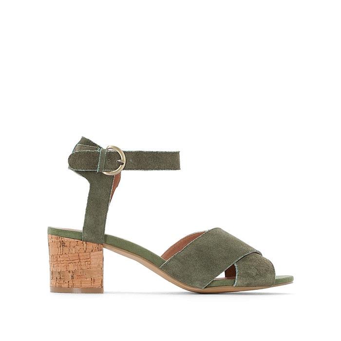 Suede Cork-Heel Sandal  CASTALUNA image 0
