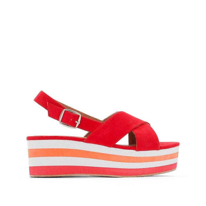 Image Platform Sandals with Crossover Straps R studio