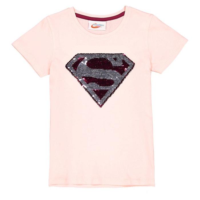 37a72c54cfac4 Tee-shirt sequins réversibles 6 12 ans rose Dc Comics