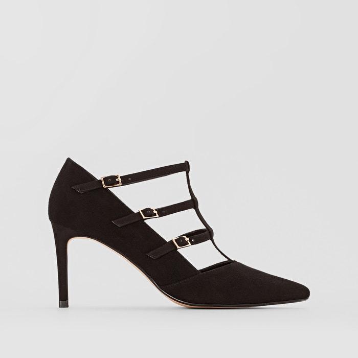 Carbon Suede Leather Court Shoes  DUNE LONDON image 0