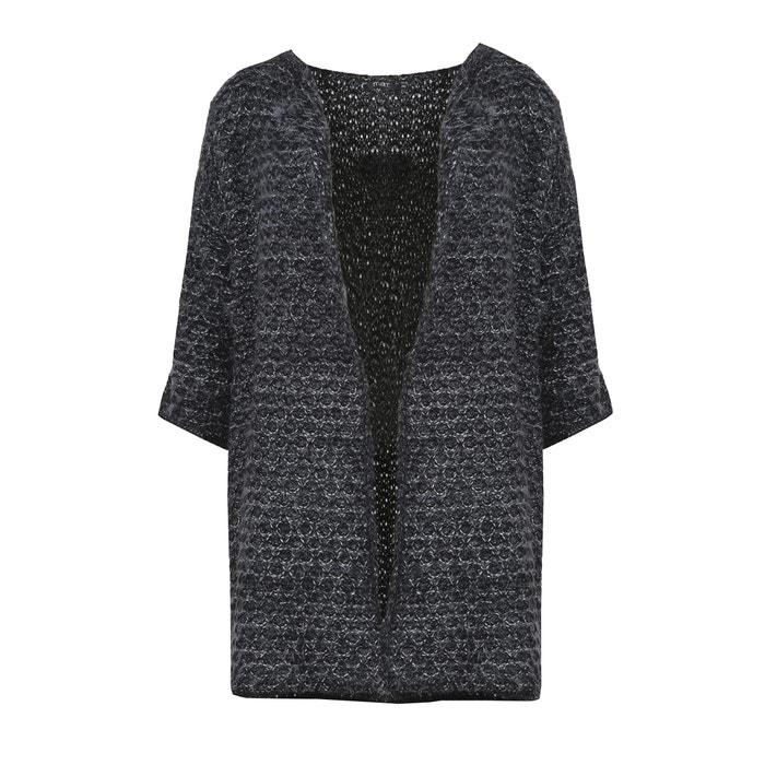 Fine Gauge Knit Cardigan with Metallic Thread  MAT FASHION image 0