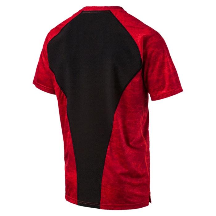 cuello y manga PUMA corta redondo Camiseta lisa con watBxq76nO