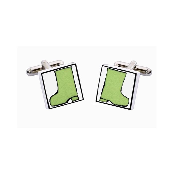 Bouton de manchette wellies, bottes vertes vert Sonia Spencer | La Redoute