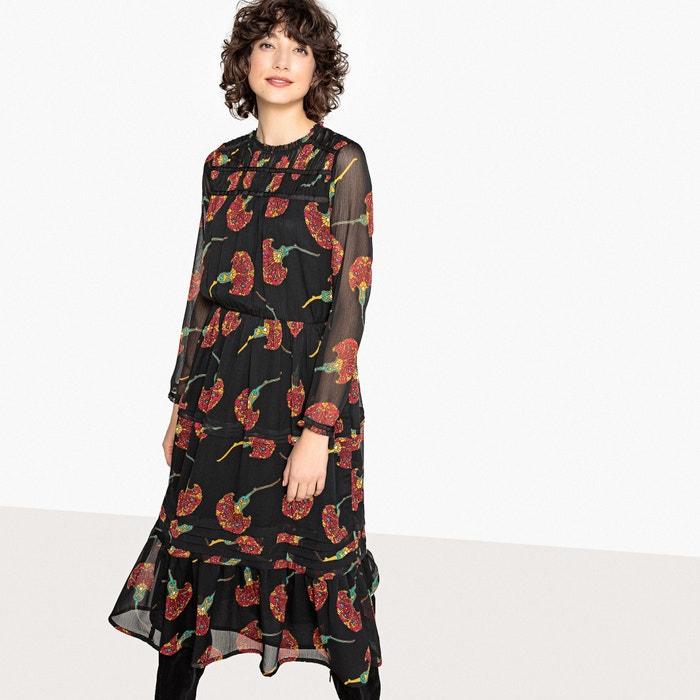 43dc39b4c59 Vestido estilo paitnadora con estampado de flores