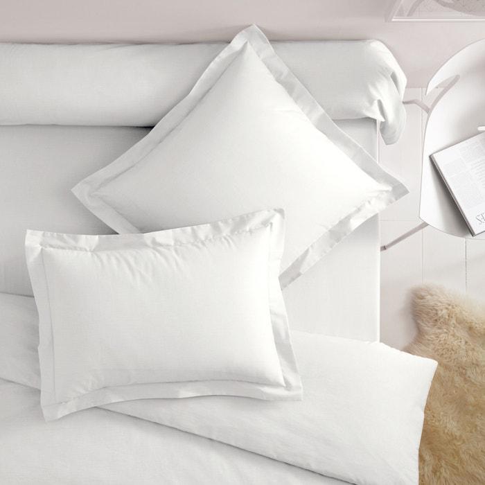 taies d 39 oreiller coton volant plat scenario la redoute. Black Bedroom Furniture Sets. Home Design Ideas