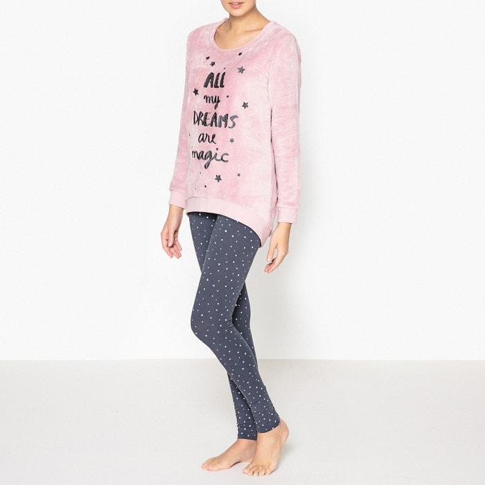 Pyjamas with 'Dreams' Sweatshirt  La Redoute Collections image 0