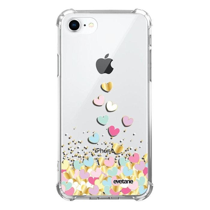 Coque iPhone 7/8/ iPhone SE 2020 silicone anti-choc souple avec angles renforcés transparente