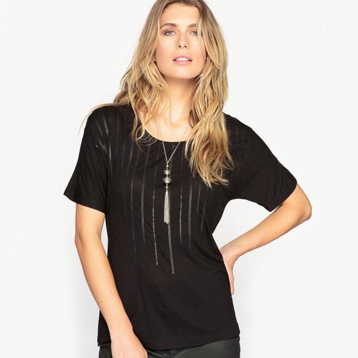 T-shirt con paillettes opache  ANNE WEYBURN image 0