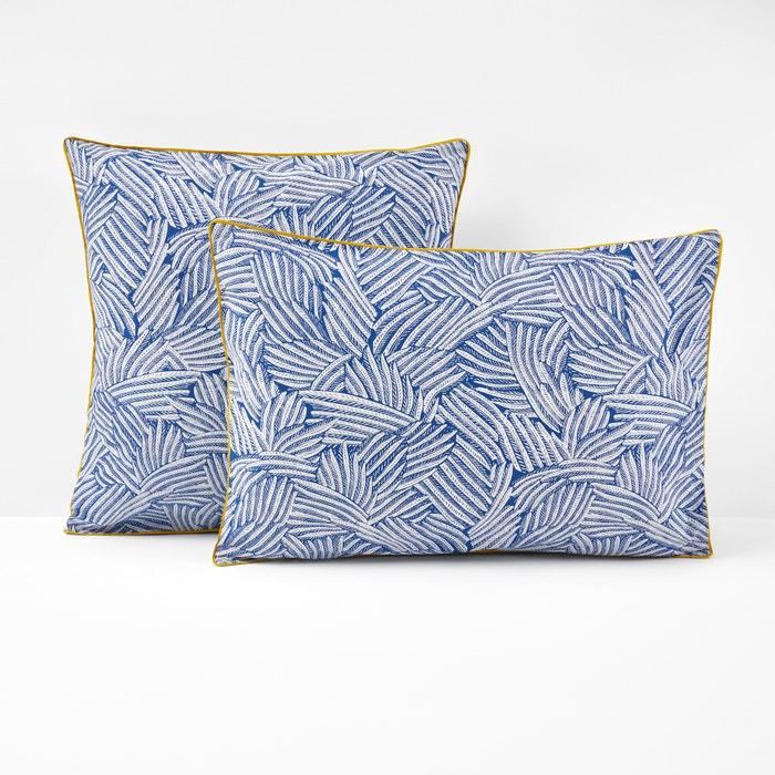 Mistral Blue Printed Single Pillowcase  La Redoute Interieurs image 0