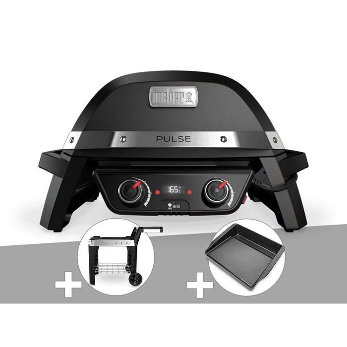 barbecue lectrique weber pulse 2000 chariot plancha. Black Bedroom Furniture Sets. Home Design Ideas