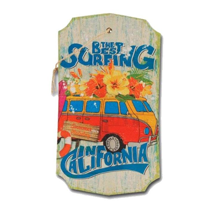 D coration murale en bois suspendre california couleur for Decoration murale la redoute