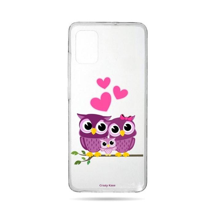 Coque pour Samsung Galaxy A71 souple Famille Chouette