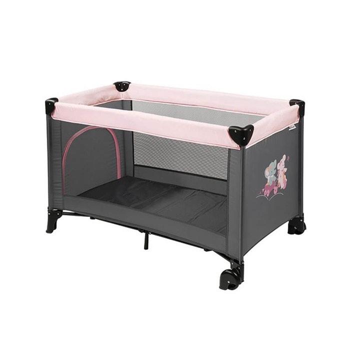 lit pliant b b avec roulettes ad le valentine gris. Black Bedroom Furniture Sets. Home Design Ideas