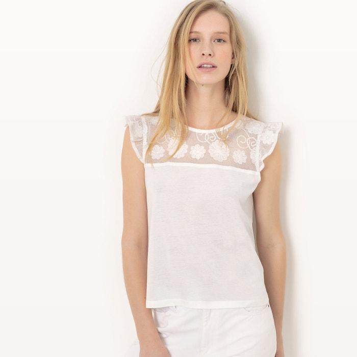 Image T-shirt, détail dentelle et galon La Redoute Collections