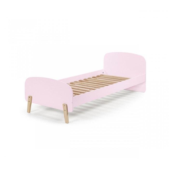 lit enfant rose avec sommier rose terre de nuit la redoute. Black Bedroom Furniture Sets. Home Design Ideas