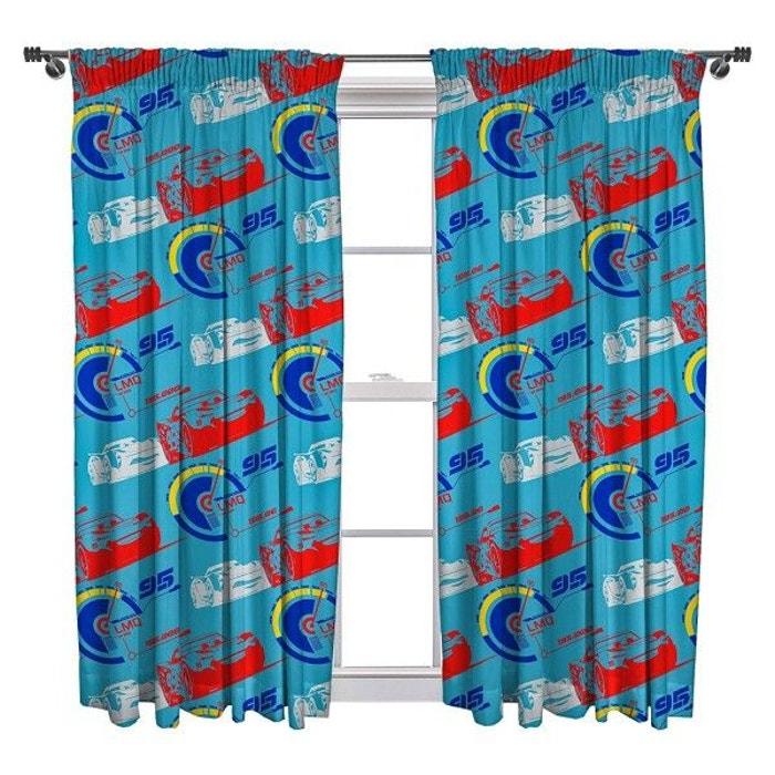Double rideaux cars lightning disney 135 cm multicolore for La redoute double rideaux