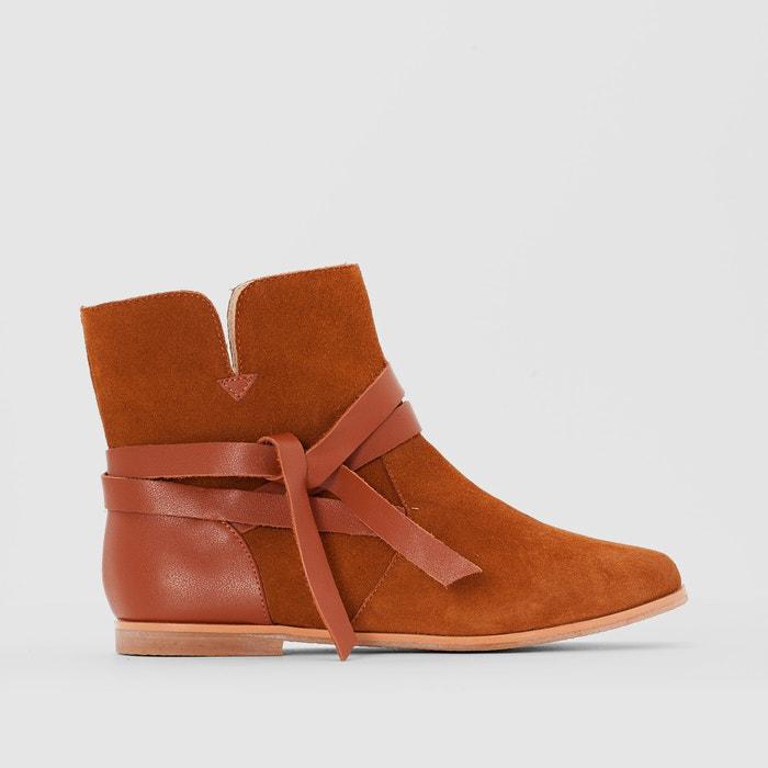 Image Boots cuir lien noué R studio