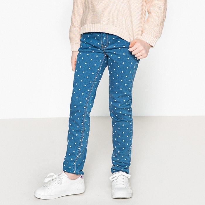Jeans slim, estampado coração, 3-12 anos  La Redoute Collections image 0