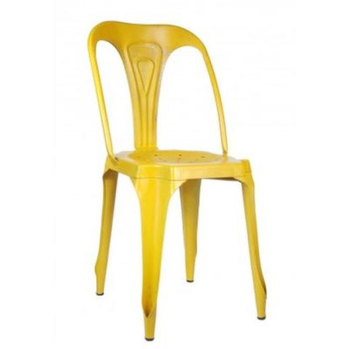 chaise style industriel en m tal vintage jaune jaune wadiga la redoute. Black Bedroom Furniture Sets. Home Design Ideas